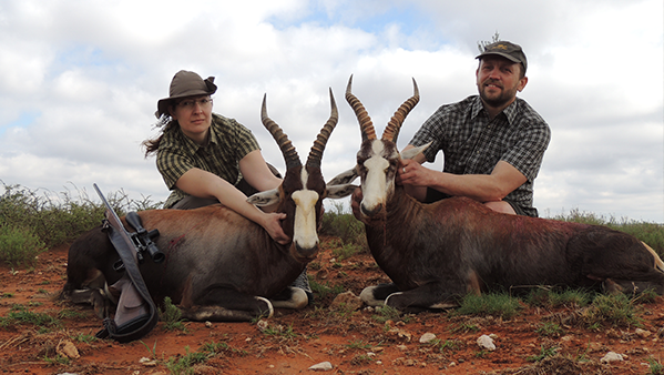 Hunting antelope in Africa